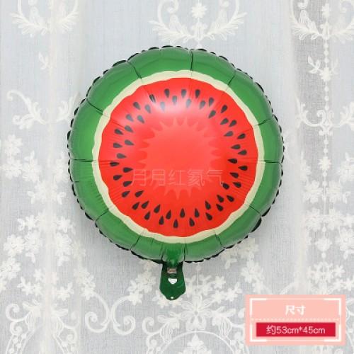 卡通水果鋁膜氣球 18寸圓形西瓜
