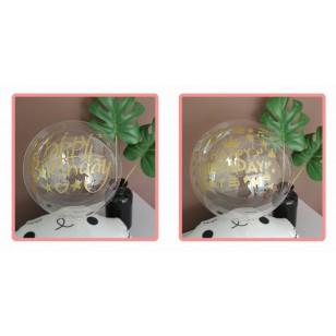 18寸透明波波氣球+貼紙選擇