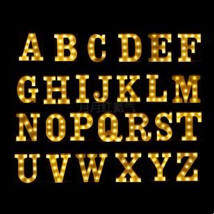 字母數字LED彩燈星星燈霓虹燈 (AA電需自備)