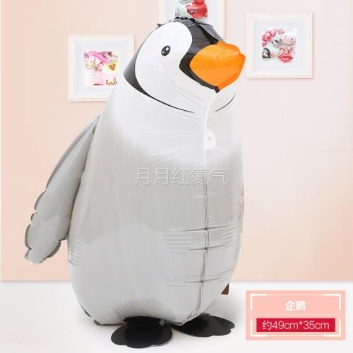 行走氣球 走路動物氣球 散步寵物氣球 企鵝