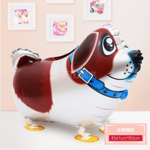 行走氣球 走路動物氣球 散步寵物氣球 銀色小狗