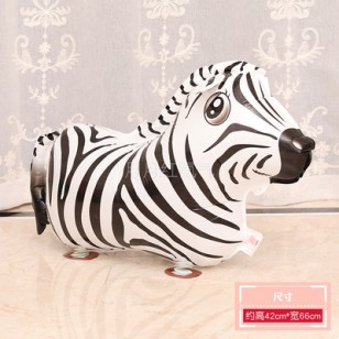 行走氣球 走路動物氣球 散步寵物氣球 斑馬