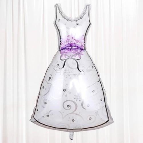 新款婚禮結婚婚房布置鋁箔氣球 新娘服
