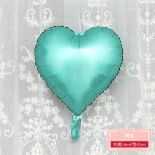 啞光綠色 霧面金屬色愛心形鋁膜氣球 婚禮佈置生日派對