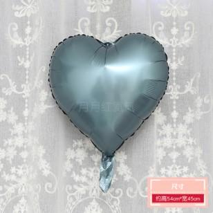 啞光灰綠色 霧面金屬色愛心形鋁膜氣球 婚禮佈置生日派對