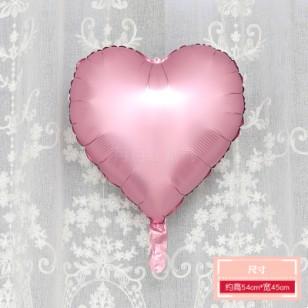 啞光粉色 霧面金屬色愛心形鋁膜氣球 婚禮佈置生日派對