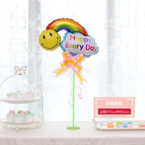 孩童卡通迷你桌漂 -黃色笑臉彩虹