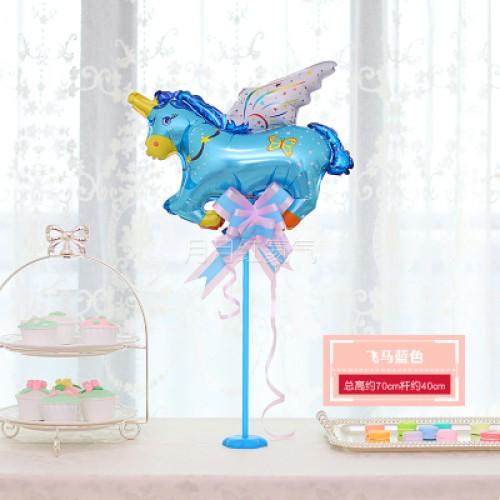 孩童卡通迷你桌漂 -飛馬藍色