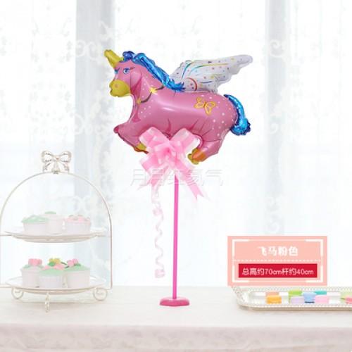 孩童卡通迷你桌漂 -飛馬粉色