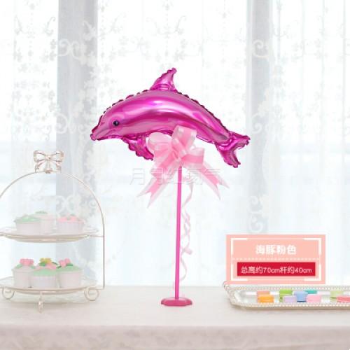 孩童卡通迷你桌漂 -海豚粉色