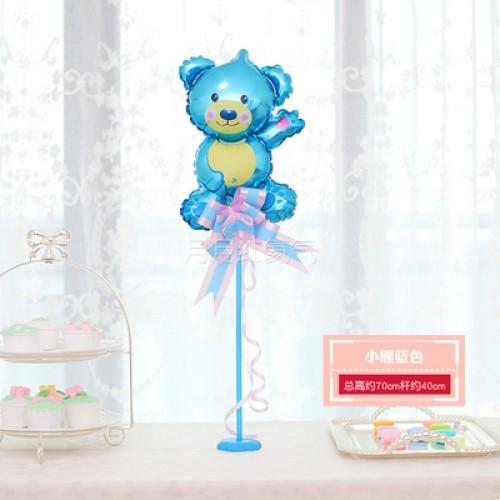 孩童卡通迷你桌漂 -小熊藍色