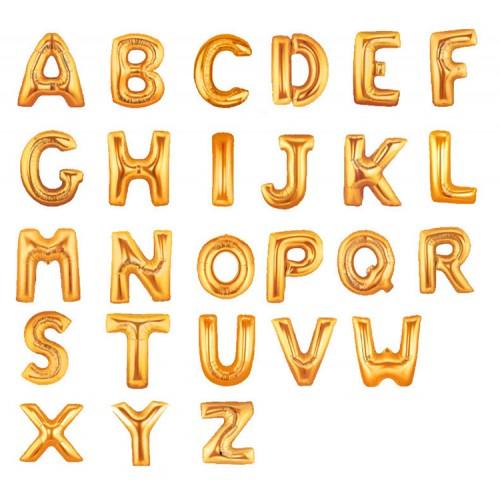 金色字母數字鋁箔氣球